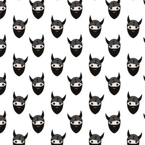 Scandinavian cool boys nordic viking design with hipster beard black and white