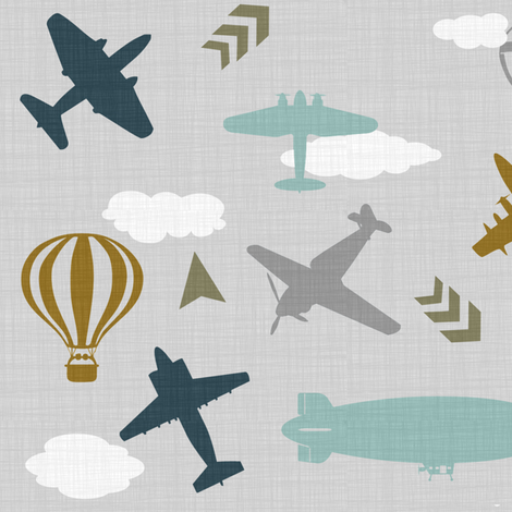 Vintage Air Travel fabric by sewluvin on Spoonflower - custom fabric