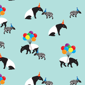 Tapir Party Blue // by Annie Swift