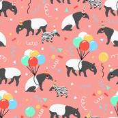 Tapir Party Pink // by Annie Swift