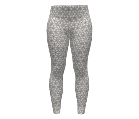 Snowflakes Web Glitter White Silver