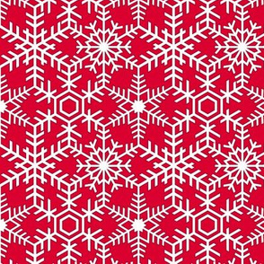 Snowflakes Web White Red