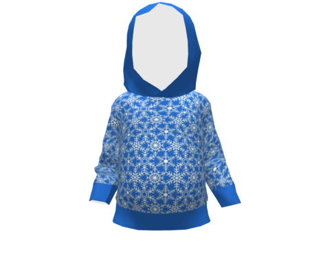 Snowflakes Web Blue White