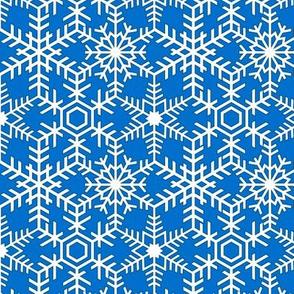 Snowflakes Web Blue White