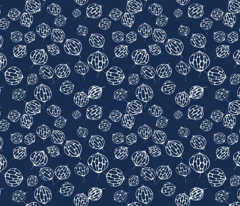 ballflower darkblue fabric by meissa on Spoonflower - custom fabric