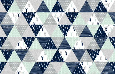 northern lights triangle wholecloth (buck)
