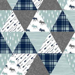 Moose Triangle Wholecloth || moose (grey)