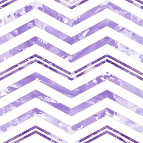 Watercolor Chevron White Purple