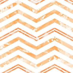 Watercolor Chevron White Orange
