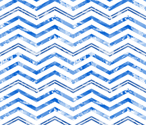 Watercolor Chevron White Blue fabric by wickedrefined on Spoonflower - custom fabric
