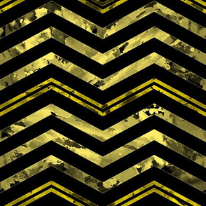 Watercolor Chevron Black Yellow