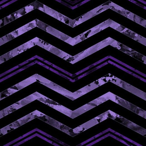 Watercolor Chevron Black Purple