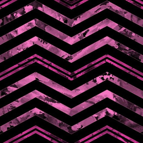 Watercolor Chevron Black Pink