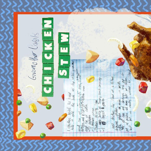 Chicken Stew Tea Towel