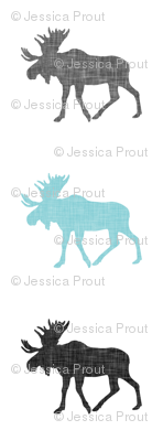 multi moose || grey and light teal