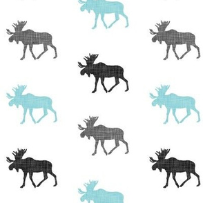 multi moose (small scale) || grey & light teal