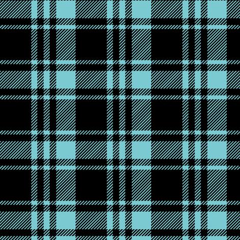 fall plaid || black  & light teal fabric by littlearrowdesign on Spoonflower - custom fabric