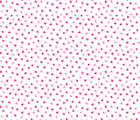 Abstract scandinavian style pastel pink hearts love print for Valentine Small fabric by littlesmilemakers on Spoonflower - custom fabric