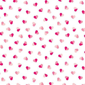 Abstract scandinavian style pastel pink hearts love print for Valentine Small