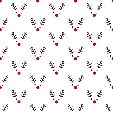 the red nosed rudolph fabric by stofftoy on Spoonflower - custom fabric