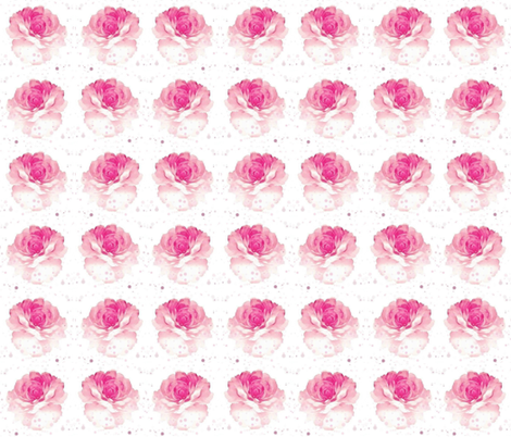 Watercolor Roses on White fabric by floramoon on Spoonflower - custom fabric