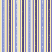 Fizz n' Bubble Pinstripes, Tangerine, Blue and Purple, Vertical, Lengthwise grain
