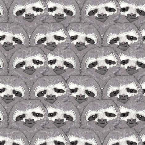 Sloth  fabric by susiprint on Spoonflower - custom fabric