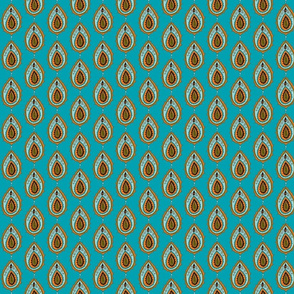 Turquoise peacock paisley-ed-ch