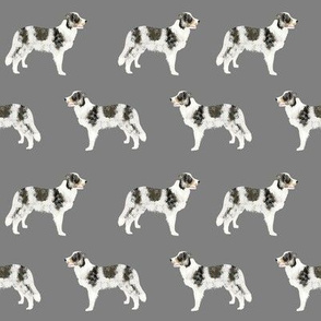 border collie blue merle dogs fabric cute christmas dogs fabric xmas holiday christmas