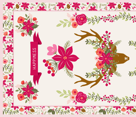 poinsettia_tea_towel fabric by nadja_petremand on Spoonflower - custom fabric