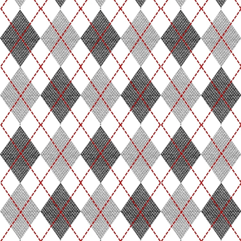 gray argyle fabric by stofftoy on Spoonflower - custom fabric