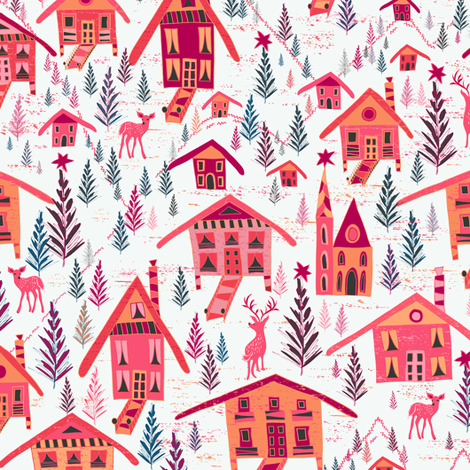 Alpine Chalet fabric by jill_o_connor on Spoonflower - custom fabric