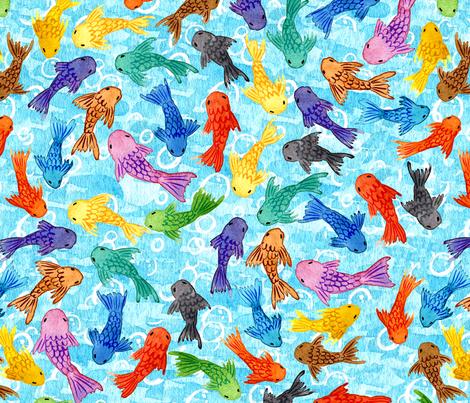 Rainbow Fish fabric by trinosaur on Spoonflower - custom fabric
