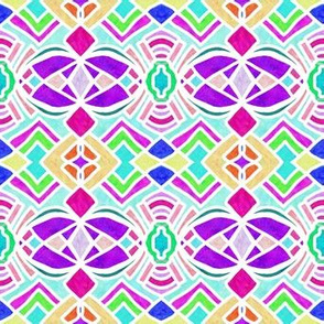 Project 152 | Bright Geometric Aztec Motif