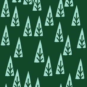 christmas trees // scandi christmas trees mint and green fabric fir trees xmas holiday scandi christmas