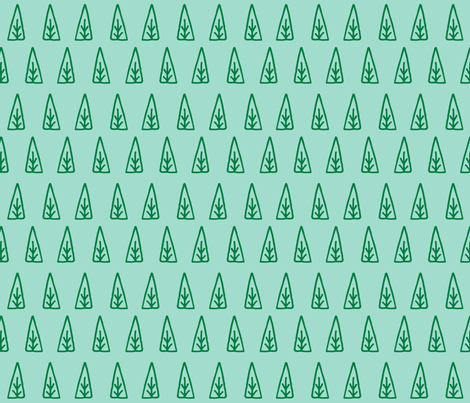 christmas tree // scandi mint trees christmas trees xmas holiday mint and green christmas fabric by andrea_lauren on Spoonflower - custom fabric