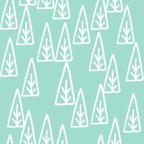 christmas tree // triangles scandi tree christmas mint trees forest xmas holiday