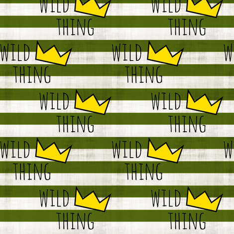 Wild Thing  fabric by forthelove on Spoonflower - custom fabric