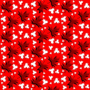 Maple Leaf Multi 3D on Red
