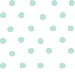 Aqua doodle dots
