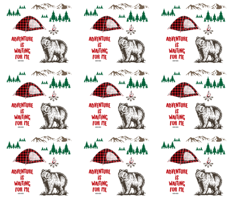 Adventure is Waiting for Me - 6 to 1 Yard fabric by shopcabin on Spoonflower - custom fabric