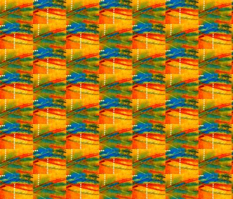 Connection Orange fabric by valeriehildebrand on Spoonflower - custom fabric