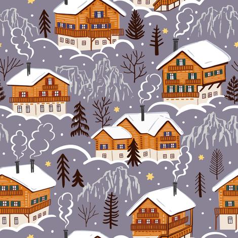 Winter dreams fabric by yuliussdesign_com on Spoonflower - custom fabric