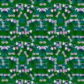 Gray Is Beautiful  Not Your Grandmothers Gray Tulips Fabric