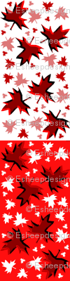 Maple Leaf Reversible Neck Warmer