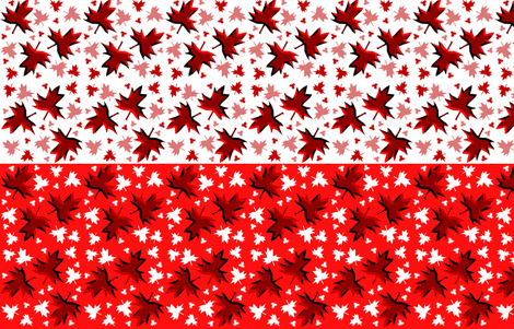 Maple Leaf Reversible Neck Warmer fabric by esheepdesigns on Spoonflower - custom fabric