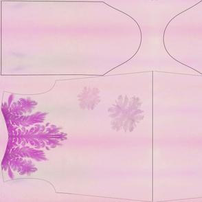 Violet and pink loose jumper