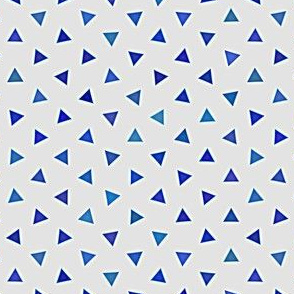 triangles in blue