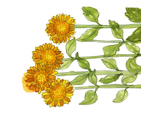 Summer Sunflowers fabric by backyarddesigner on Spoonflower - custom fabric