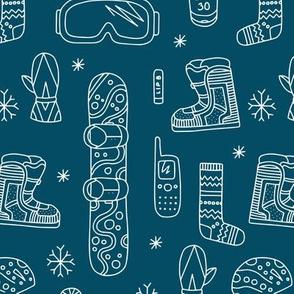 snowboard blue